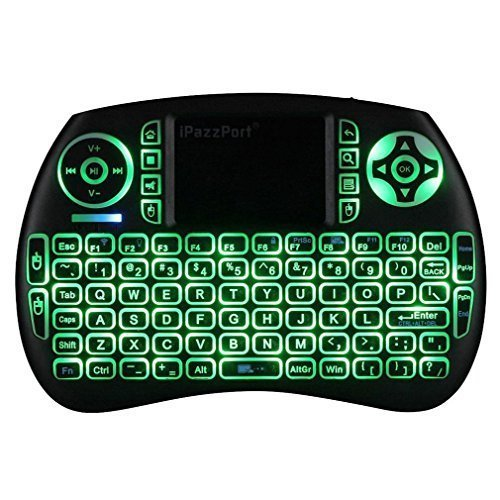 iPazzPort 3-color Backlit Wireless Mini Keyboard and Mouse T