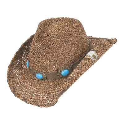 Peter Grimm Ltd Women's Raven Straw Cowgirl Hat Brown One Size