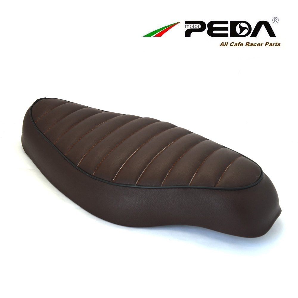 PEDA Cafe Racer Seat 54CM Motorcycle Vintage Stitching BROWN Seats For Honda Super Cub 50 C50 Cobra PEDA MOTOR A-YS-L54-BROWN