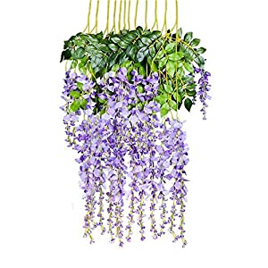 RUNFON 12pcs/lot Artificial 105CM Wisteria Silk Flower Wedding Decorations Home Garden Party Holiday Decor 13
