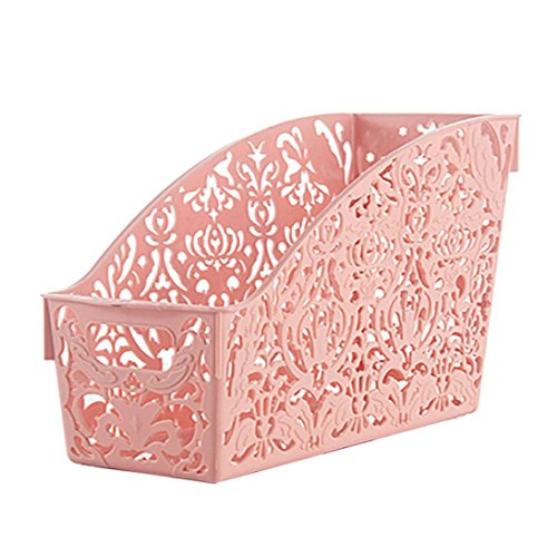 - YJYDADA Plastic Storage Basket Desktop Bathroom Family Sundries Pen Pencil Storage (Pink)