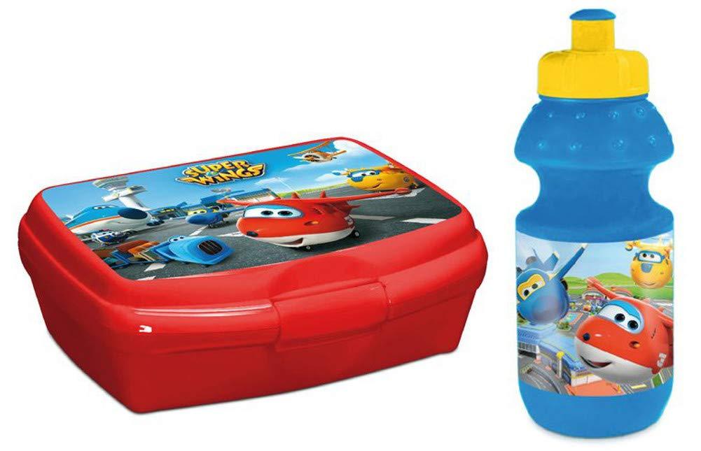 Super Wings Brotdose Brotb/üchse Lunchbox Vesperbox Schule Kindergarten