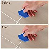 Outus 4 Pieces Sealant Tool Caulking Tool Kit for Bathroom Kitchen and Frames Sealant Seals (Black, Red) (Black, Blue)