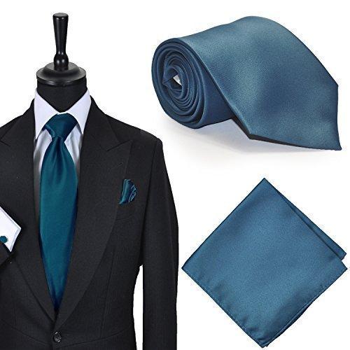 Hombre Formal Corbata Verde Azulado & Pañuelo Set: Amazon.es: Ropa ...