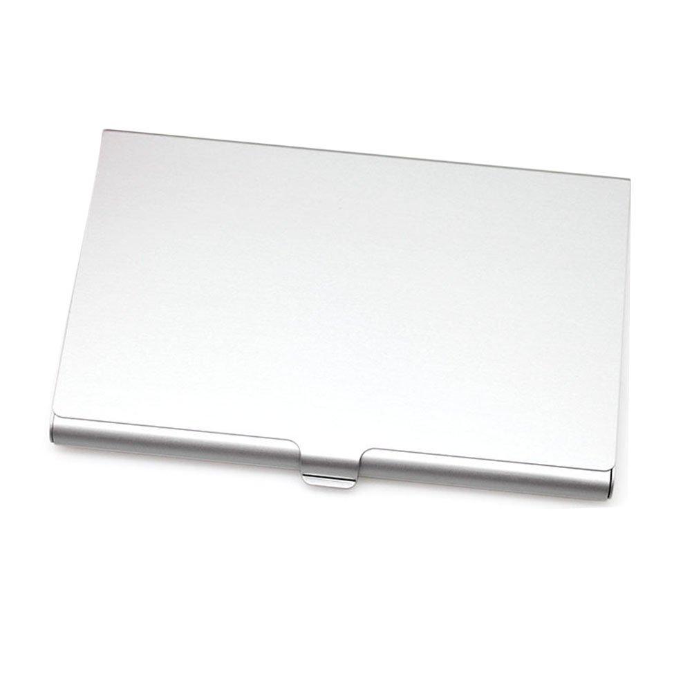Sdkmah9 Mode Etui à cartes de visite, Acier inoxydable Aluminium support Boîte en métal Coque, Silver, Taille unique