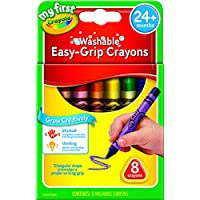 CRAYOLA 81-1308 My First Washable Triangular Crayons, 8pk, Learning Grip, 2 years, 3 years, 4 years, pre-school…