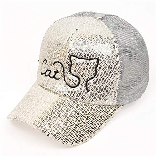GOP Store New Sequin Cat ren s Summer Sun Hats Baseball Caps Boy Girl Net Beach Cap Summer Visor Hat Mesh Snapback Baseball Caps