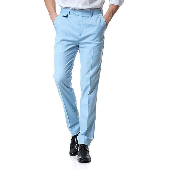 Pantalones Casuales De Negocios para Hombre Pantalones ...