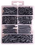 550 Pieces Nail and Brad Assortment 7 Different Sizes!