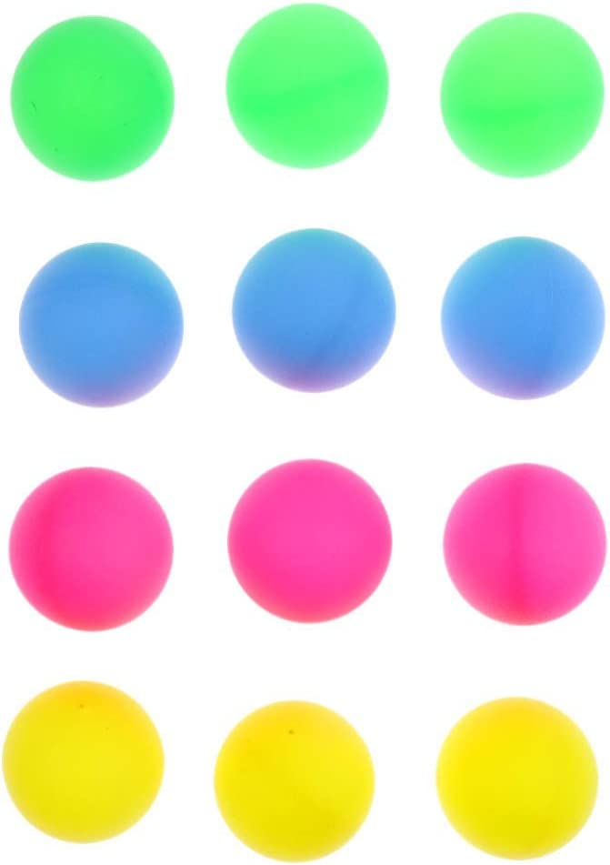 12 Pieces 40mm Colorful Ping Pong Ball Table Tennis Ball Suit for All Kinds of Amateur Entertainment Ping Pong Practice or Decoration Random Color