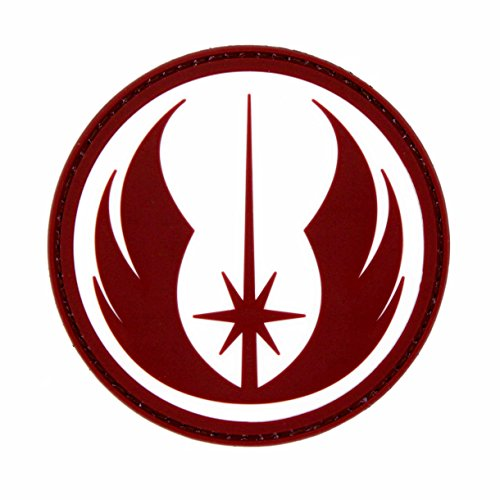 NEO Tactical Gear Star Wars Jedi Order Galactic Republic Patch - PVC Morale Patch, Hook Backed Morale Patch, Star Wars Morale Patch (Red and White)