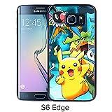 Fashion Designed Pokemon 13 Black Samsung Galaxy S6 Edge Phone Case