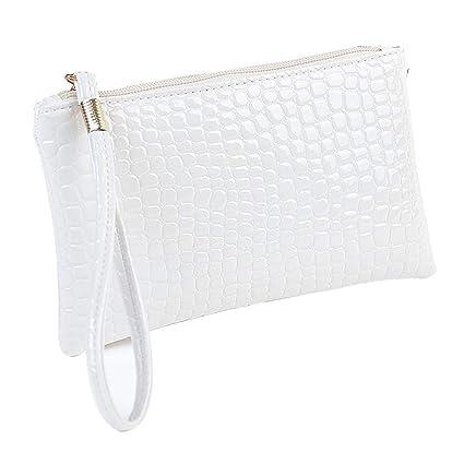 933c356f22be Amazon.com: Women Simple Crocodile Leather Clutch Handbag Bag Coin ...