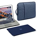 GMYLE 3 in 1 MacBook Air 13 Bundle Navy Blue Soft-Touch Matte Hard Case for MacBook Air 13 inch (A1369/A1466), Water Repellent Laptop Sleeve Handle and Pocket with Silicon Keyboard Cover [US Layout]