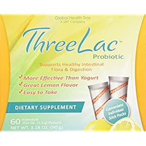 Threelac Original Natural Probiotic Candida Relief Formula 3Lac 60 servings