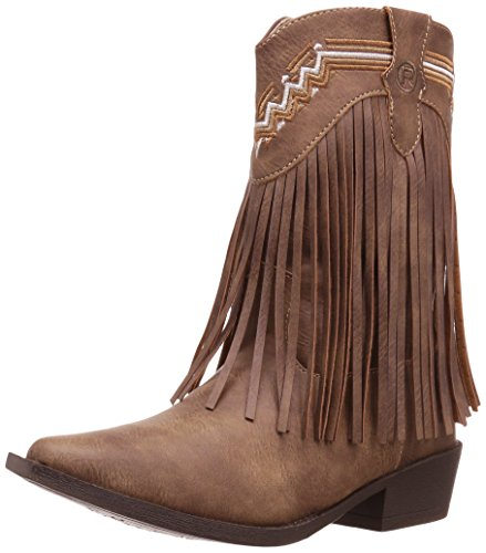 Roper Girls' Fringes Western Boot, Tan, 3 Child US Little Kid