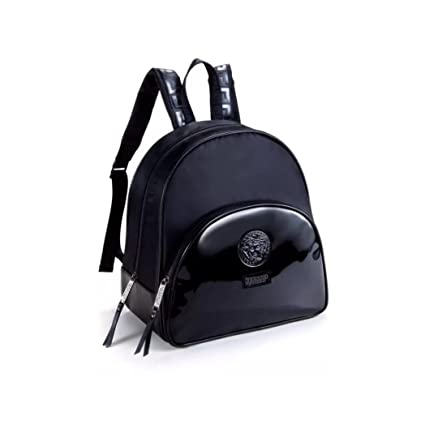 b68b490a86f Versace Black Luxury Backpack Medusa Head for Women  Amazon.co.uk  Luggage