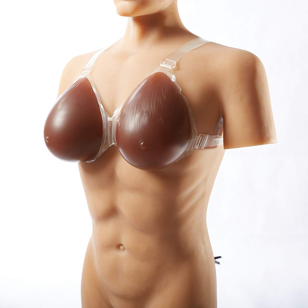 Silicone Breast Forms with Strap-on Waterdrop Fake Boobs for Crossdresser Transgender Mastectomy Cosplay,2,CupJ/4600g/Pair/16.1 * 9.4 * 4.9inch