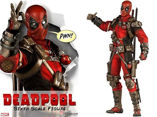"Sideshow Marvel Comics Deadpool 1/6 Scale 12"" Action Figure MISB In Stock"