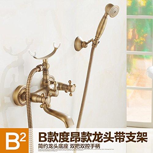 F AGECC Beste Wahl Duschbad Set Feine Bronze Antike Badewanne Wasserhahn Mit Hubstange Und Einfache Dusche Set F