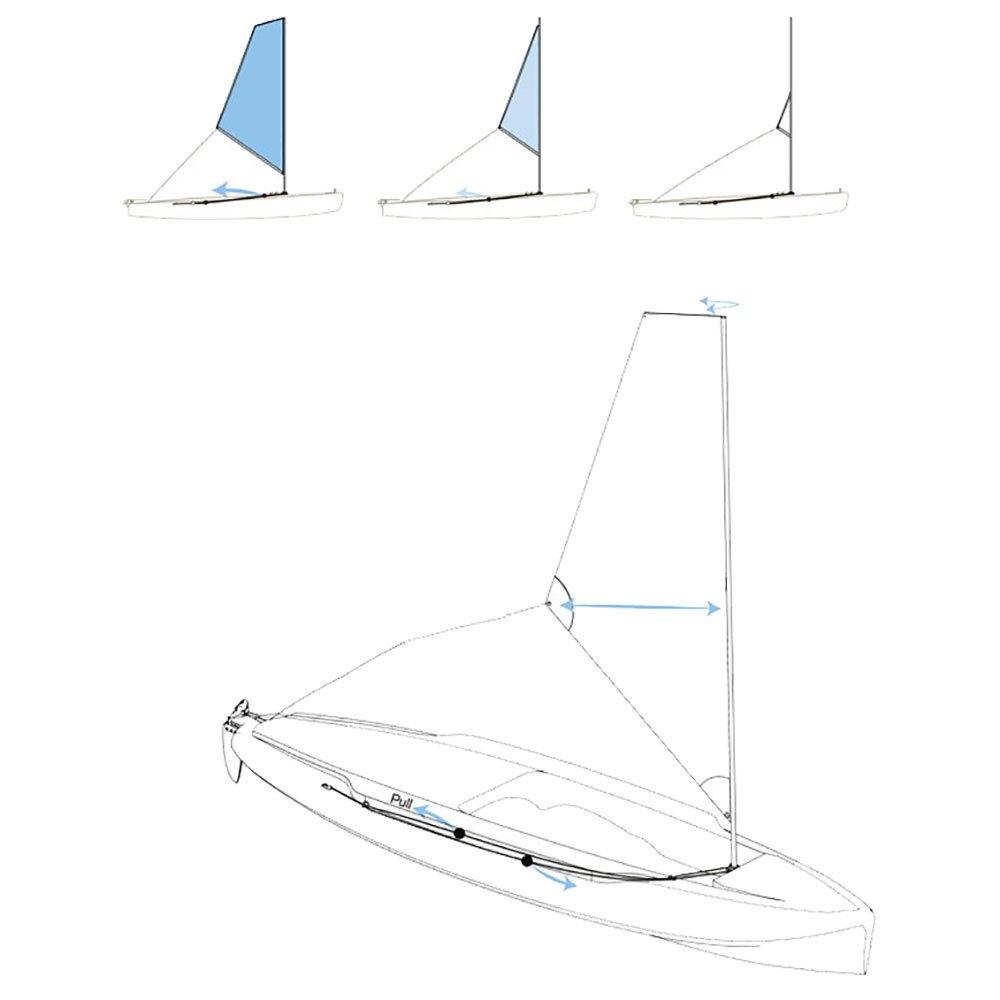 Hobie Kayak Sail Furler Kit Kayak Sail Rigging Kit Three Belles Outfitters Water Sports Sporting Goods