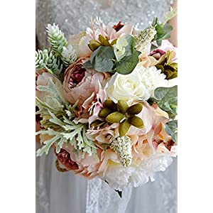 Babyonlinedress Bridesmaid Wedding Bouquet Bridal Artificial Flowers 91