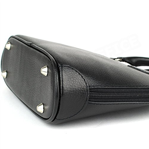 Mini sac à main New-york cuir Noir Beaubourg