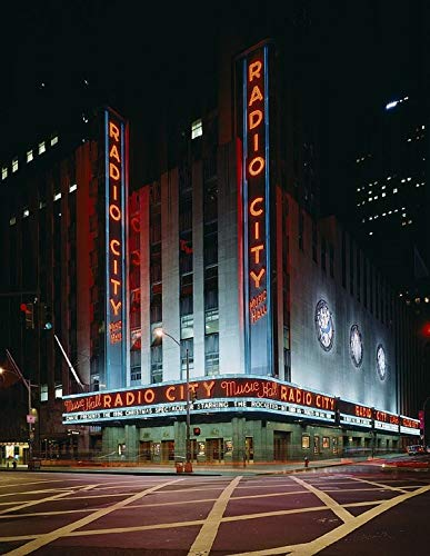Home Comforts Canvas Print Manhattan Radio City New York City Music Hall Vivid Imagery Stretched Canvas 32 x 24