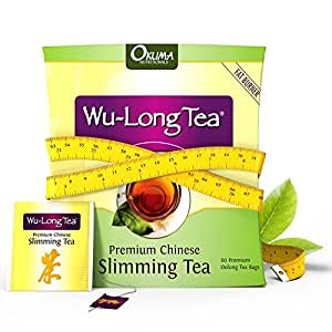 Premium Chinese Slimming WuLong Tea - Highly Concentrated All-Natural WuYi Oolong for Weight Loss, Suppress Your Appetite, Diet, Detox and Anti-Acne Benefits - 1 month supply with 60 tea bags