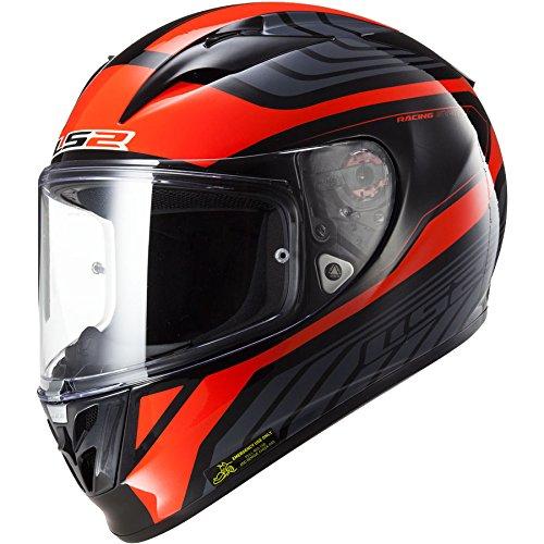 FF323 Arrow R Integralhelm Burner schwarz/rot XS - Motorradhelm