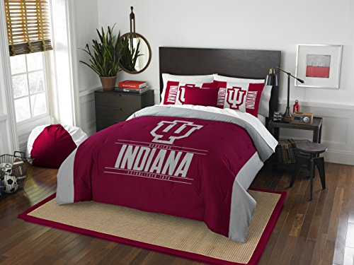 The Northwest Company Officially Licensed NCAA Indiana Hoosiers Modern Take Full/Queen Comforter and 2 Sham Set ()