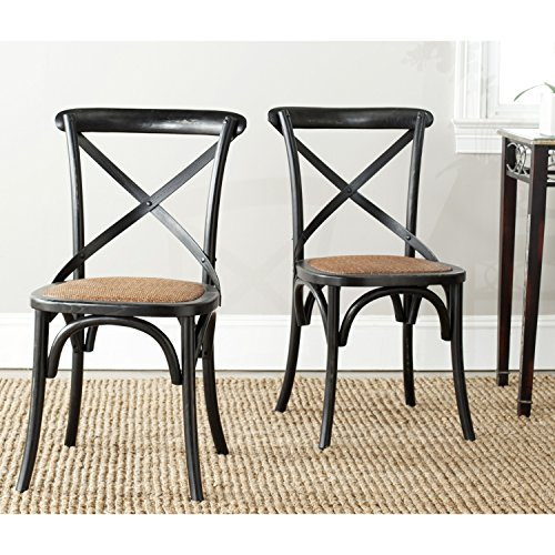 American Home Franklin X Back Chair - Black - Set Of 2 - Woo