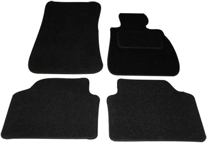 69 Car Mats to fit 3 Series Heavy Duty Rectangle Heel Pad 2005-2011 Blue Heel Pad Anthracite Carpet E90//E91 Blue Trim