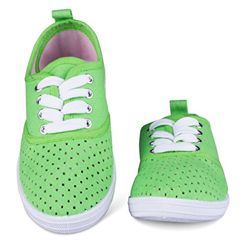 Girls Canvas Sneakers Lace Up Tennis Shoes Toddler