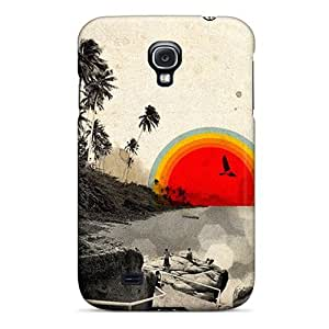 Durable Sunrise Back Case/cover For Galaxy S4