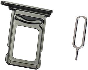 "Draxlgon Dual SIM Card Tray Slot Holder Adapter for iPhone Xs MAX 6.5"" Black Dual SIM"