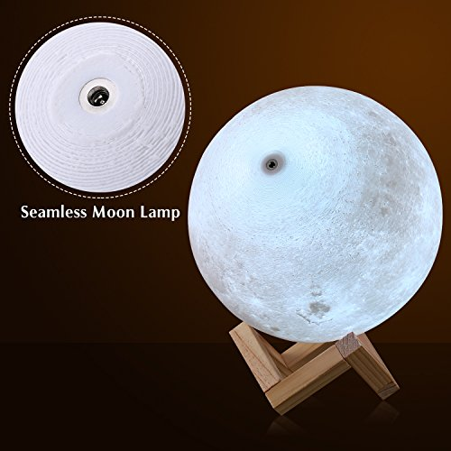 Extra Large!!! CPLA Seamless Moon Lamp 16 Colors LED Lunar Lamp Dimmable Brightness with Remote & Touch Control Large Moon Light Gifts for Love Dimeter 7.1inch by CPLA (Image #1)