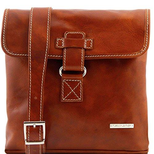 a in Tuscany Marrone tracolla pelle Miele Leather Andrea Borsello wPwqzX4
