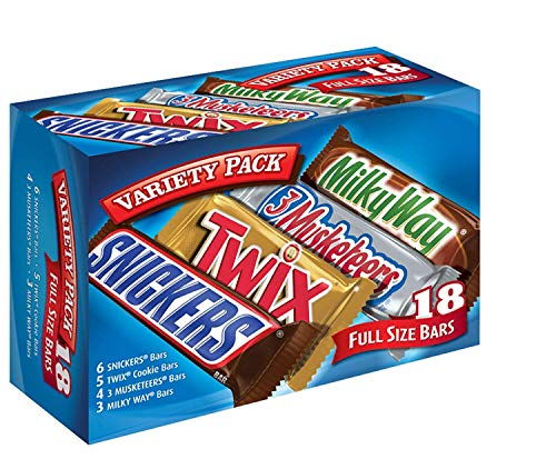 MARS Chocolate Singles Size Candy Bars Variety Pack 33.31-Ounce 18-Count Box (2 -