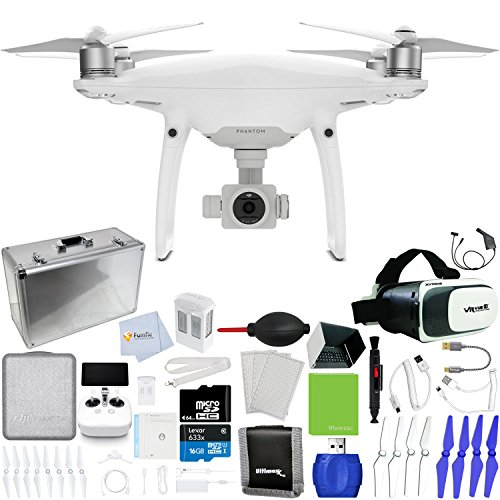 DJI-Phantom-4-Pro-Quadcopter-Xtreme-VR-Vue-II-For-iPhoneAndroid-Screen-Size-35-6-Intelligent-Flight-Battery-5350mAh-64GB-Micro-SD-Hard-Shell-Aluminum-Case-Car-Charger-More