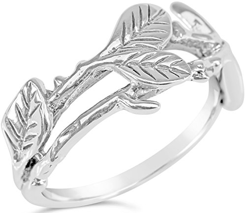floral-collection-women-oxidized-sterling-silver-leafy-vine-ring-size-9-includes-care-bundle