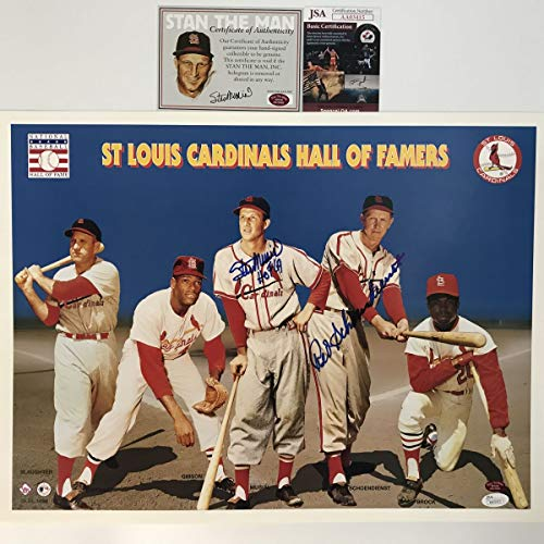 - Autographed/Signed Stan Musial & Red Schoendienst St. Louis Cardinals 16x20 Baseball Photo JSA COA