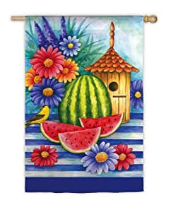 Regular Size Flag, Birdhouse and Watermelon,131415