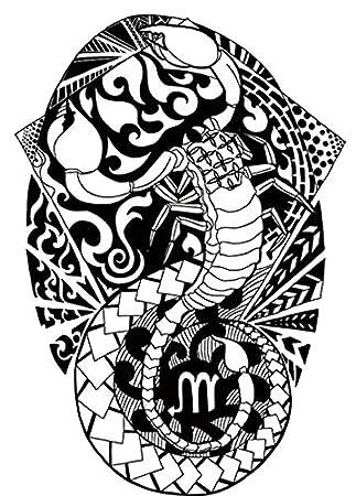 Tatuaje falso para el brazo de Tribal, diseño de maorí y tribal ...