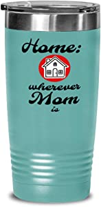 Home is Where Mom Is Tumbler, Mother, Mommy, Mum, red house, child to parent, daughter, son