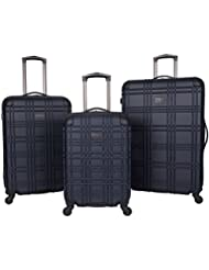 BEN SHERMAN Abs 4-Wheel 3-Piece Nested Set Luggage: 20 Carry-on, 24, 28, Navy