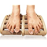 TheraFlow Dual Foot Massager Roller (Large) - Relieve Plantar Fasciitis, Heel, Foot Arch Pain - Stress Relief - Detailed Instructions Included - Acupressure/ Reflexology Tool - Perfect Gift