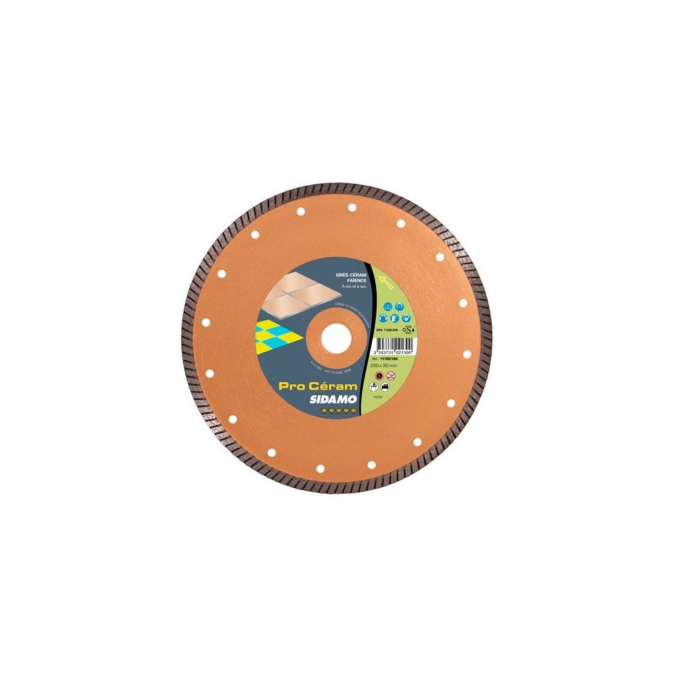 Sidamo–Festplatte Diamant Pro Ceram D.250x 30x 8x EPH. 2,4mm–Fliesen/Steingut/Steingut–11102130