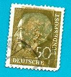 Used German Postage Stamp %281957%29 50p