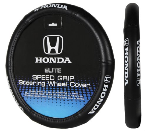 Honda Civic Steering Wheel Cover - Plasticolor 006732R01 Elite Series Speed Grip 'Honda' Steering Wheel Cover